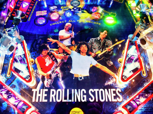 Wall Art - Photograph - Rolling Stones Pinball by Dominic Piperata
