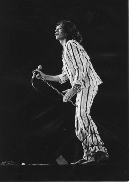 Mick Jagger Photograph - Rolling Stones Singer Performing In Sf by Richard Mccaffrey