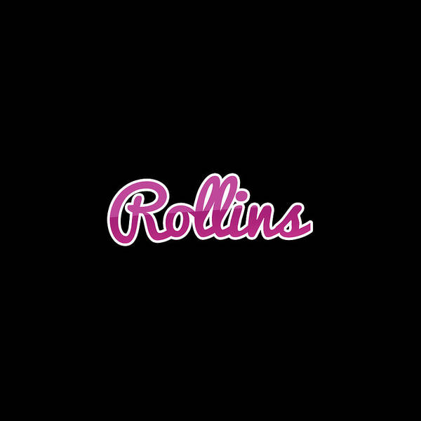Wall Art - Digital Art - Rollins #rollins by Tinto Designs