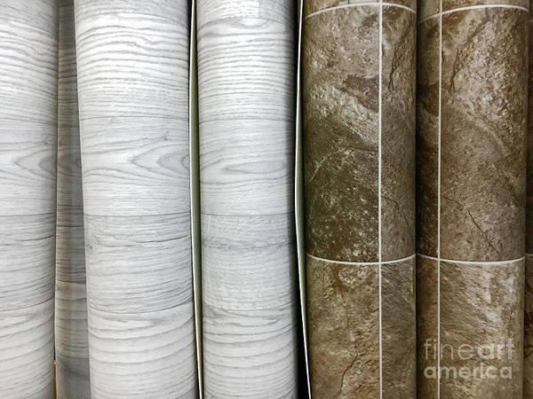 Wall Art - Photograph - Rolls Of Vinyl Flooring by Tom Gowanlock