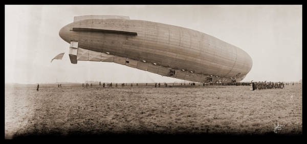 Airbase Photograph - Roma Dirigible At Bolling Field Air by Fred Schutz Collection