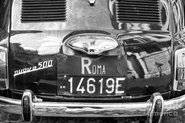 Photograph - Roma Fiat Nuova 500 by John Rizzuto