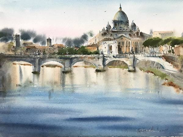 Wall Art - Painting - Roma, Italy by Eugenia Gorbacheva