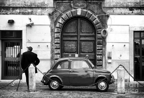 Photograph - Roma Streets In Black And White by John Rizzuto
