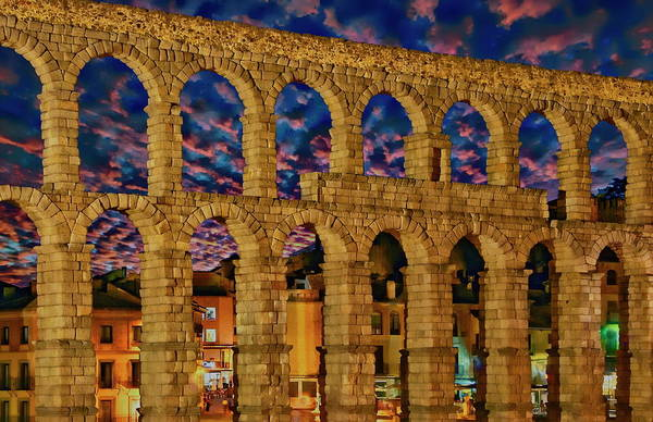 Photograph - Roman Aqueduct by Anthony Dezenzio