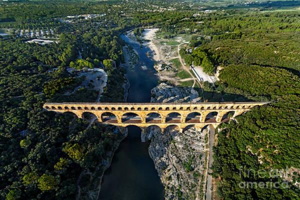 Exterior Wall Art - Photograph - Roman Aqueduct, Pont Du Gard by Er 09
