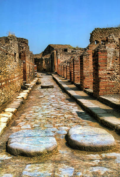 Chariot Wall Art - Photograph - Roman Chariot Road In Pompeii by David Smith