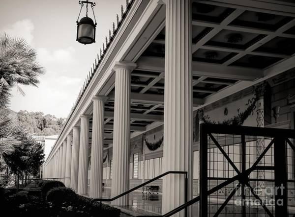 Wall Art - Photograph - Roman Column Exterior Getty Villa  by Chuck Kuhn