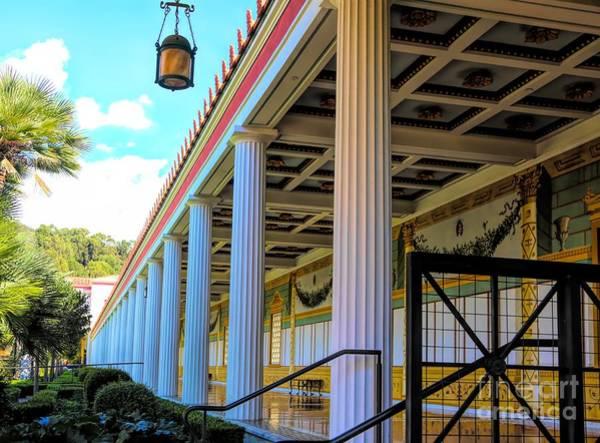 Wall Art - Photograph - Roman Columns Courtyard Getty Villa by Chuck Kuhn
