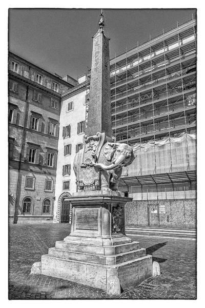 Photograph - Roman Elephant Obelisk by Wolfgang Stocker