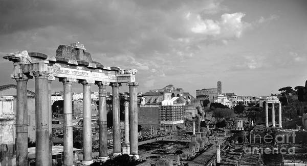 Wall Art - Photograph - Roman Forum And Colosseo Bw by Stefano Senise