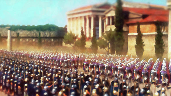 Painting - Roman Legion In Battle - 33 by Andrea Mazzocchetti