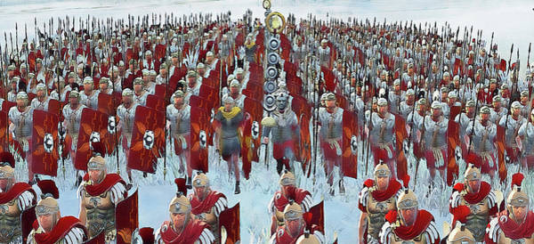 Painting - Roman Legion In Battle - 34 by Andrea Mazzocchetti