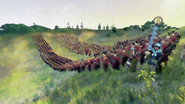 Painting - Roman Legion In Battle - 36 by Andrea Mazzocchetti