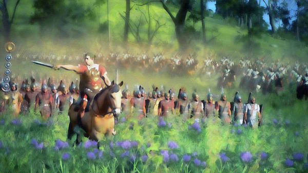 Painting - Roman Legion In Battle - 37 by Andrea Mazzocchetti