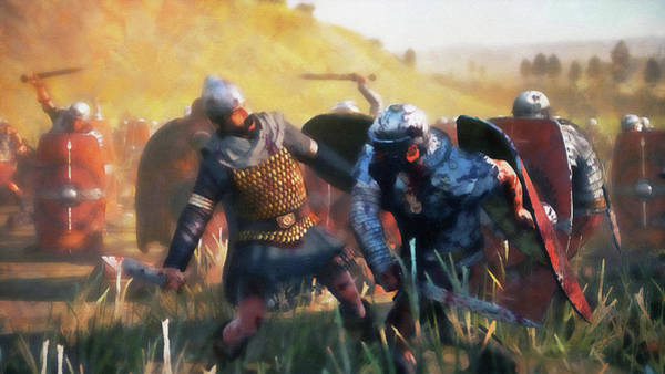 Painting - Roman Legion In Battle - 38 by Andrea Mazzocchetti
