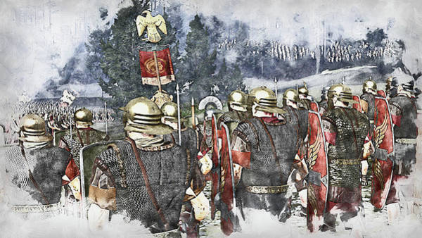 Painting - Roman Legion In Battle - 39 by Andrea Mazzocchetti