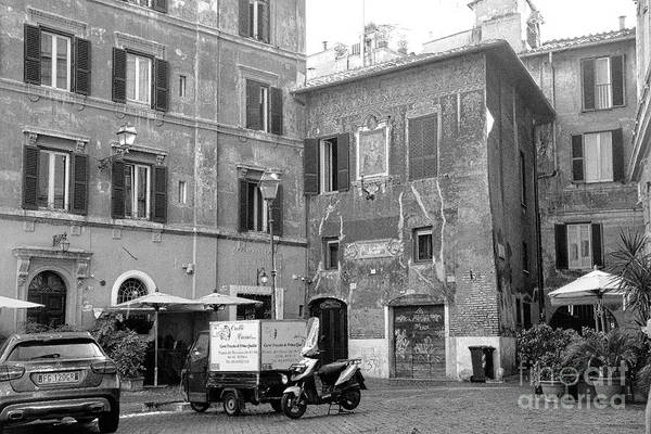 Photograph - Roman Piazza, Italy by Mary Machare