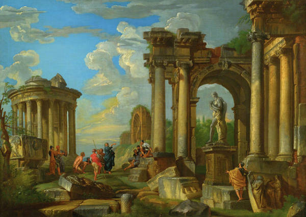 Collapse Painting - Roman Ruins by Giovanni Paolo Panini