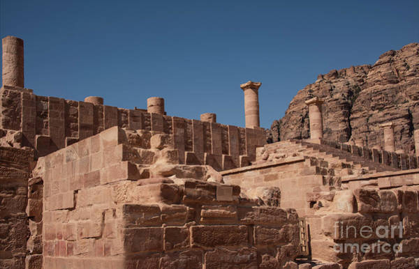 Photograph - Roman Temple In Petra by Mae Wertz