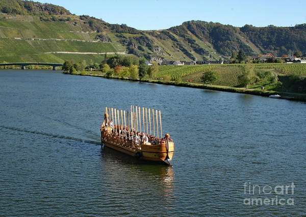 Photograph - Roman Warship On The Mosel by PJ Boylan