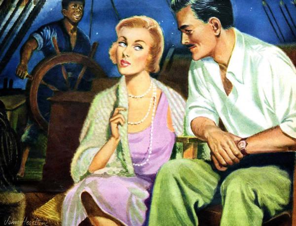 Sails Digital Art - Romance On Boat by Long Shot