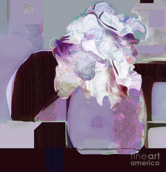 Organic Abstraction Mixed Media - Romancing The Moon by Zsanan Studio