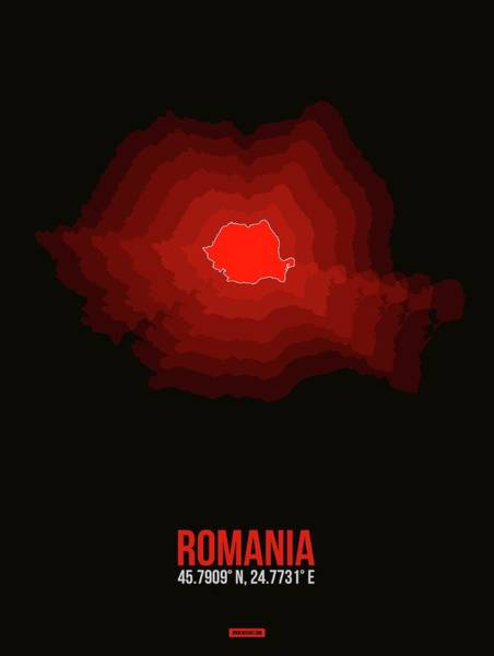 Wall Art - Digital Art - Romania Radiant Map I by Naxart Studio