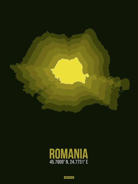 Wall Art - Digital Art - Romania Radiant Map II by Naxart Studio