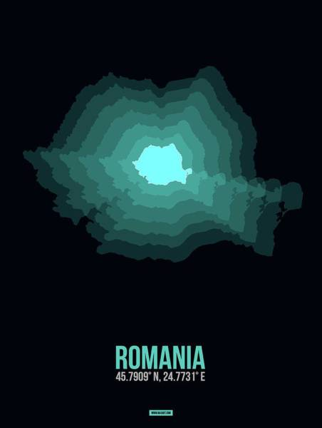 Wall Art - Digital Art - Romania Radiant Map Iv by Naxart Studio