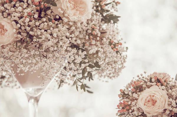 Photograph - Romantic Floral Wedding Decor 3 by Jenny Rainbow