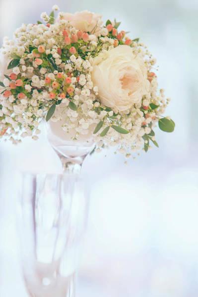 Photograph - Romantic Floral Wedding Decor 6 by Jenny Rainbow