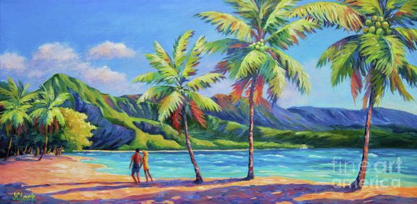 Tunnel Painting - Romantic Hanalei Bay by John Clark