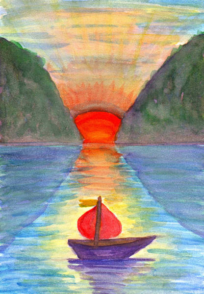 Painting - Romantic Sailboat by Irina Dobrotsvet