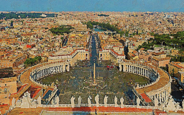 Painting - Rome And The Vatican City - 07 by Andrea Mazzocchetti
