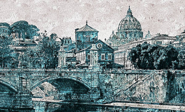 Painting - Rome And The Vatican City - 11 by Andrea Mazzocchetti