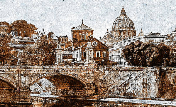 Painting - Rome And The Vatican City - 12  by Andrea Mazzocchetti