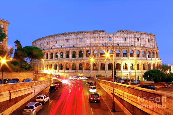 Wall Art - Photograph - Rome At Night by Douglas Taylor