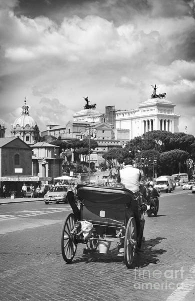 Wall Art - Photograph - Rome Bw Cityscape Poster by Stefano Senise