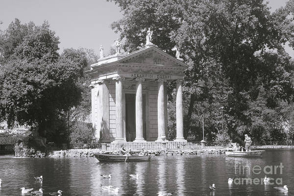 Wall Art - Photograph - Rome Bw - Temple Of Aesculapius - Villa Borghese by Stefano Senise