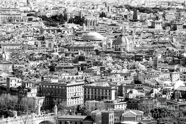 Photograph - Rome Cityscape Four by John Rizzuto