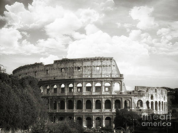 Wall Art - Photograph - Rome - Colosseo Black And White by Stefano Senise
