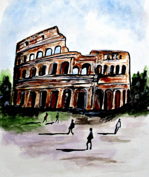 Painting - Rome Colosseum by Clyde J Kell