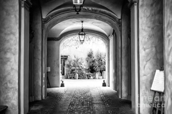 Photograph - Rome Courtyard Dimensions by John Rizzuto