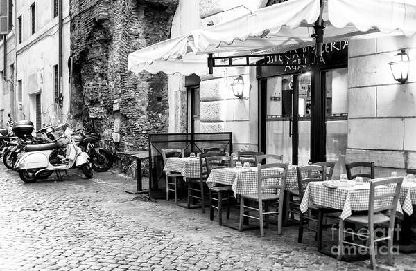 Outdoor Cafe Photograph - Rome Dinner Scene by John Rizzuto