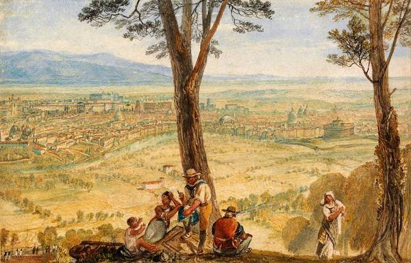 Wall Art - Painting - Rome From Monte Mario - Digital Remastered Edition by William Turner