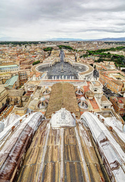 Photograph - Rome From Saint Peters Lantern by Weston Westmoreland
