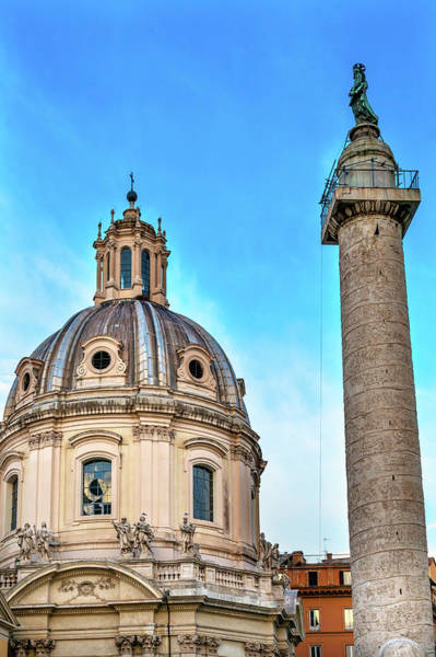 Wall Art - Photograph - Rome, Italy Trajan Column Erected by William Perry