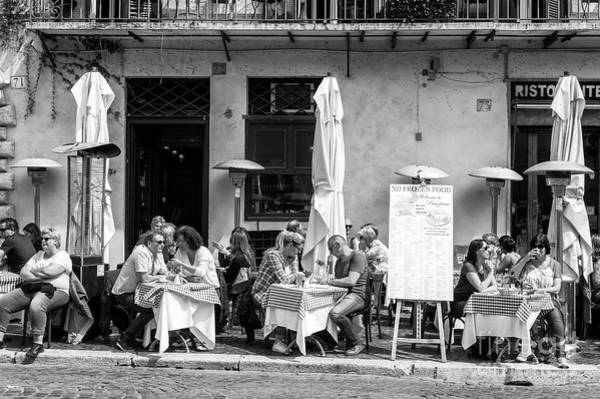 Photograph - Rome Lunch In Piazza Navona by John Rizzuto