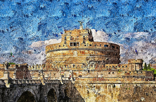 Painting - Rome, Mausoleum Of Hadrian - 05 by Andrea Mazzocchetti